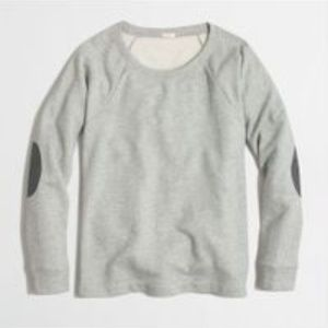 J.CREW GRAY ELBOW PATCH SWEATSHIRT SIZE SMALL